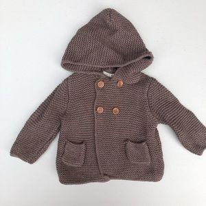 Zara | gender neutral knit hooded sweater